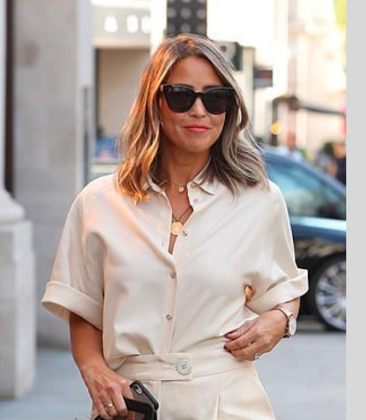 Rachel Stevens attends 'London Fashion Week'